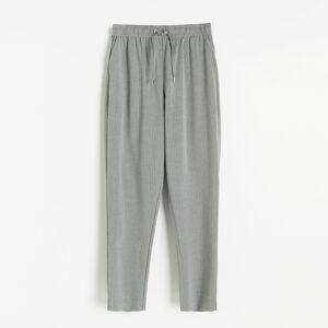 Reserved - Kalhoty joggers svázáním vpase - Světle šedá