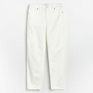 Reserved - Kalhoty slim fit - Bílá