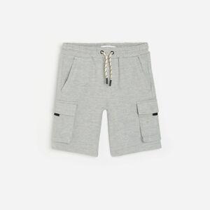 Reserved - Krátké kalhoty s kapsami - Světle šedá