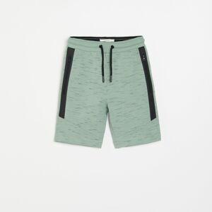 Reserved - Boys` shorts - Tyrkysová