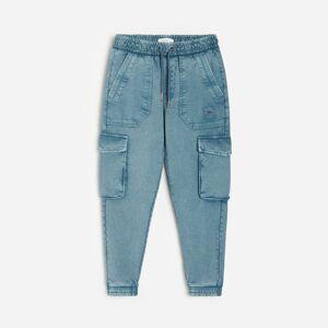 Reserved - Kalhoty cargo joggers - Modrá