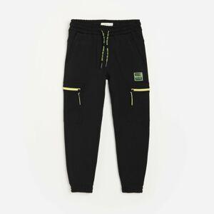Reserved - Teplákové kalhoty cargo joggers - Černý
