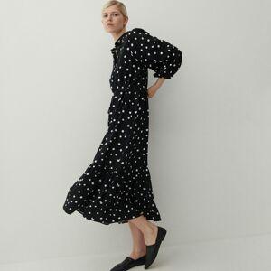 Reserved - Vzorované šaty zviskózy - Černý