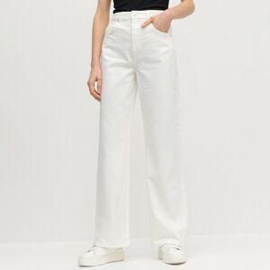 Reserved - Ladies` trousers - Bílá