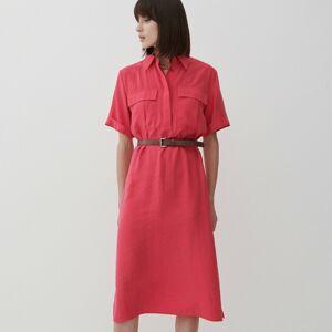Reserved - Košilové midi šaty svysokým podílem Modalu™ - Růžová