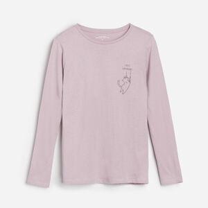 Reserved - Tričko sdlouhými rukávy - Fialová