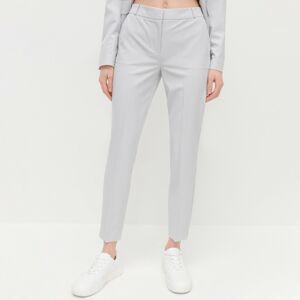 Reserved - Elegantní kalhoty snažehlenými puky - Světle šedá