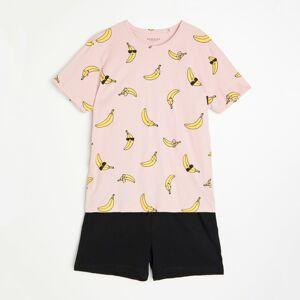 Reserved - Dvoudílná pyžamová souprava - Růžová