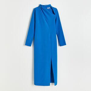 Reserved - Šaty se zdobeným výstřihem - Modrá