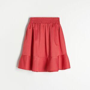 Reserved - Midi sukně svysokým podílem bavlny - Červená