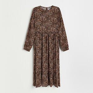 Reserved - Vzorované šaty z viskózy - Černý