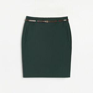 Reserved - Elegantní sukně s páskem - Khaki
