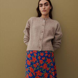 Reserved - Vzorovaná sukně z viskózy - Vícebarevná