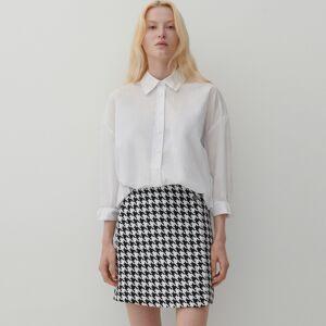 Reserved - Pepitová sukně - Černý