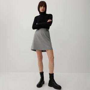 Reserved - Jednobarevná mini sukně - Světle šedá