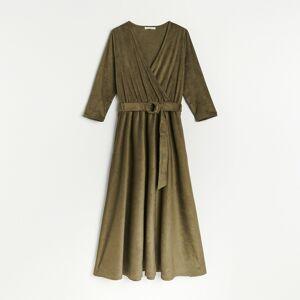 Reserved - Dámské šaty & pásek - Khaki
