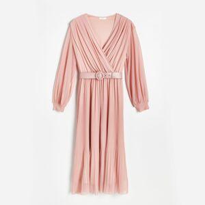 Reserved - Dámské šaty & pásek - Růžová