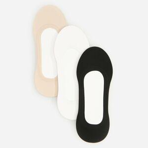 Reserved - Sada 3párů ponožek do balerínek - Černý