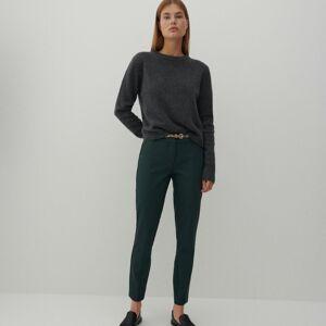 Reserved - Cigaretové kalhoty spáskem - Tyrkysová