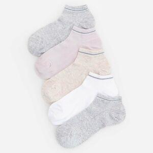 Reserved - 5 balení kotníkových ponožek - Krémová