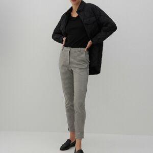 Reserved - Žakárové cigaretové kalhoty - Vícebarevná