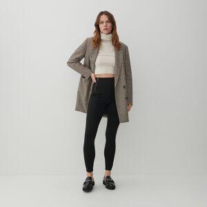 Reserved - Žerzejové kalhoty zviskózové směsi - Černý