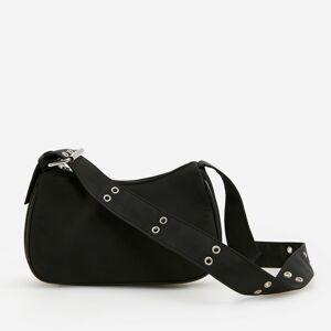 Reserved - Kabelka baguette svysokým podílem recyklovaného polyesteru - Černý