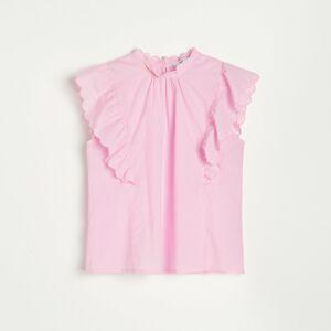 Reserved - Halenka s ozdobnými rukávy - Růžová