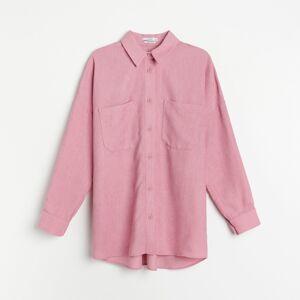 Reserved - Manšestrová košile - Růžová