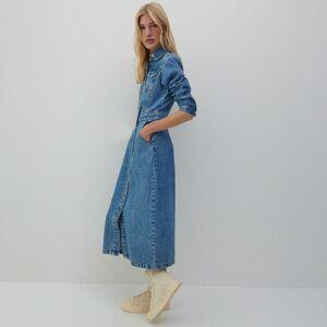 Reserved - Denimové šaty - Modrá