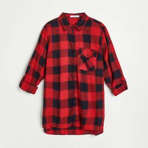 Reserved - Kostkovaná košile - Červená