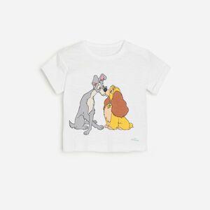 Reserved - Tričko s potiskem Lady a Tramp - Bílá