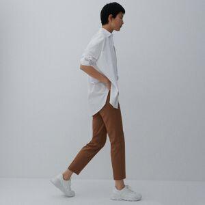 Reserved - Kalhoty s vysokým pasem - Hnědá
