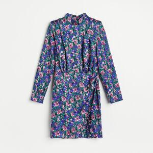 Reserved - Vzorované šaty se stojáčkem - Vícebarevná