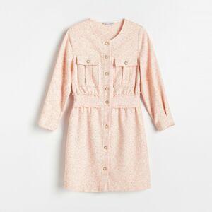 Reserved - Šaty sdekorativními knoflíky - Vícebarevná