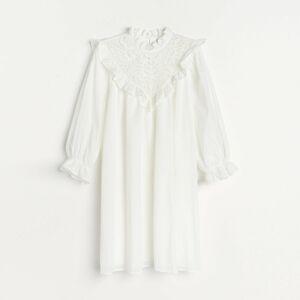 Reserved - Ladies` dress - Krémová