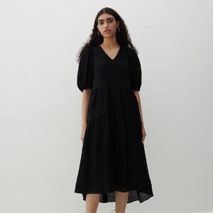 Reserved - Šaty ze strukturované látky - Černý