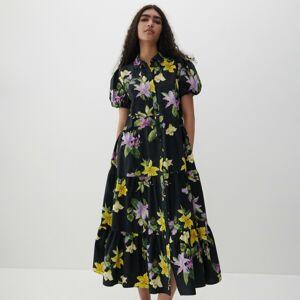 Reserved - Vzorované šaty - Černý