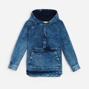 Reserved - Košile skapucí na způsob bundy anorak - Modrá