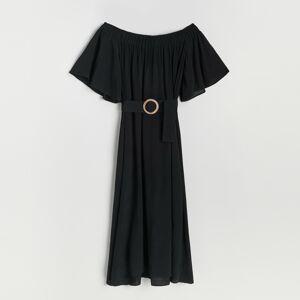 Reserved - Šaty z viskózy - Černý