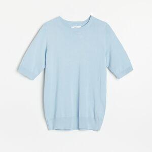 Reserved - Lehký svetr spříměsí viskózy - Modrá