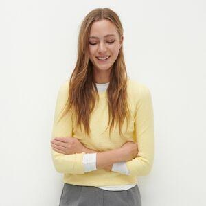 Reserved - Svetr s raglánovými rukávy - Žlutá