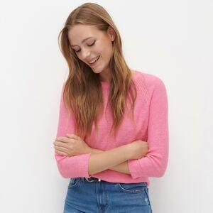 Reserved - Svetr s raglánovými rukávy - Růžová