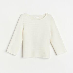 Reserved - Svetr z organické bavlny - Krémová