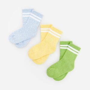 Reserved - Sada 3párů ponožek svysokým podílem bavlny - Modrá