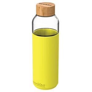 Skleněná lahev na vodu Flow 660 ml, Quokka, neon green