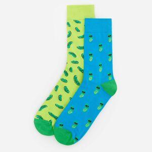 Reserved - Dvojbalení ponožek s potiskem - Zelená