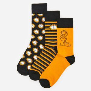 Reserved - Sada 3párů ponožek Garfield - Žlutá