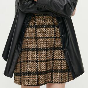 Reserved - Kostkovaná trapézová sukně - Vícebarevná