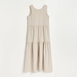 Reserved - Midi šaty - Krémová